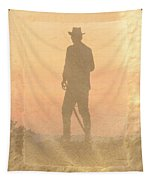 Cowboy On The Hill Tapestry