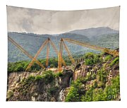 Crane On The Mountain Tapestry