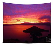 Crater Lake Fire In The Sky Tapestry