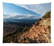 Crater Lake Mountains Tapestry