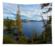 Crater Lake Through The Trees Tapestry