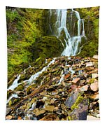 Crater Lake Waterfall Tapestry