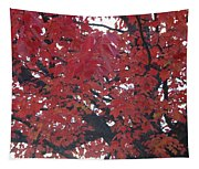 Crimson Leaves Tapestry