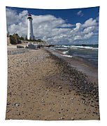 Crisp Point Lighthouse 14 Tapestry