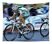 Criterium Bicycle Race 3 Tapestry