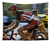 Criterium Bicycle Race1 Tapestry