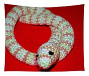 Crochet Snake In Red Tapestry