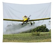 Crop Dusting Plane In Action Tapestry