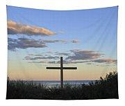 Ocean Grove Nj Cross On Beach Tapestry