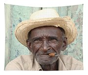 Cuba's Old Faces Tapestry