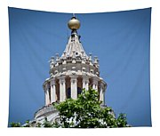 Cupola Atop St Peters Basilica Vatican City Italy Tapestry