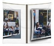 Curb Resting - Gently Cross Your Eyes And Focus On The Middle Image Tapestry
