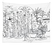 Daily Life In South And Center Cameroon 01 Tapestry