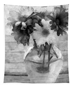Daisy Crazy Bw Revisited Tapestry
