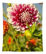 Dalhia In Bloom  Tapestry