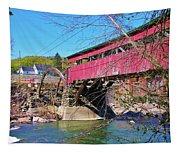 Damaged Covered Bridge Tapestry
