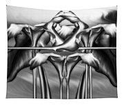 Dance Of The Black And White Calla Lilies Vi Tapestry