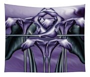 Dance Of The Purple Calla Lilies V Tapestry