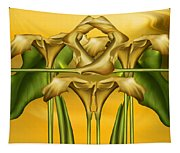 Dance Of The Yellow Calla Lilies II Tapestry