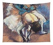 Dancer Fastening Her Pump Tapestry