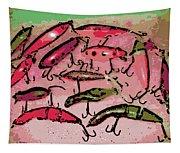 Dancing Colors Tapestry