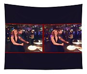 Dancing New Years Eve - Gently Cross Your Eyes And Focus On The Middle Image Tapestry