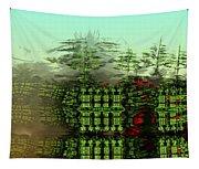 Dancing Trees On Alien Cliffs Tapestry