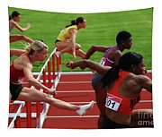 Dash To The Finish Tapestry