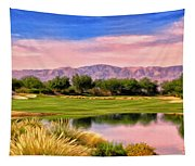 Dawn On The Golf Course Tapestry