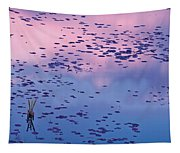 Dawn Sky Reflected In Pool Tapestry