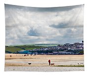 Daymer Bay Beach Landscape In Cornwall Uk Tapestry