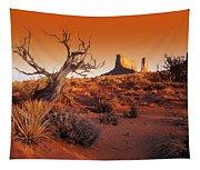 Dead Tree In Desert Monument Valley Tapestry