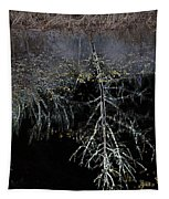 Dead Tree Reflects In Black Water Tapestry