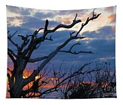 Dead Trees At Sunrise Tapestry
