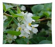 Delicate White Flower Tapestry