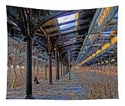Deserted Railroad Platforms Tapestry
