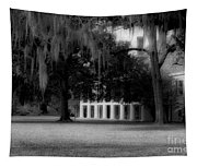 Destrehan Plantation In Black And White Tapestry