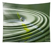 Dew Bead On The Blade Of Grass Tapestry