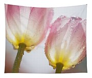 Dew On Tulips Tapestry