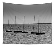Dinghies Moored Off Of Leigh On Sea Essex Tapestry