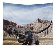 Dino's In The Badlands Tapestry