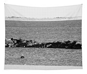 Diving Coney Island In Black And White Tapestry
