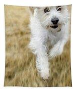 Dog Running Tapestry