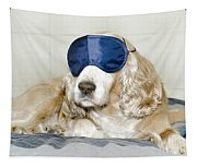 Dog With A Sleep Mask Tapestry