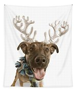 Dog With Antlers Tapestry