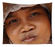 Cambodian Girl Tapestry