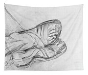 Drawing Class. Sandaled Feet Tapestry