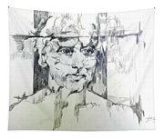 Drawing Of A Man Tapestry