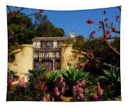 Dream Cottage In Malibu Tapestry