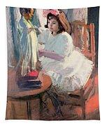 Dressing Her Doll Tapestry